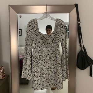 Black and White Dotted Party Dress